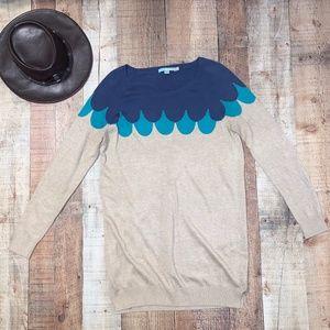 Boden | Blue Scallop Detail  Sweater